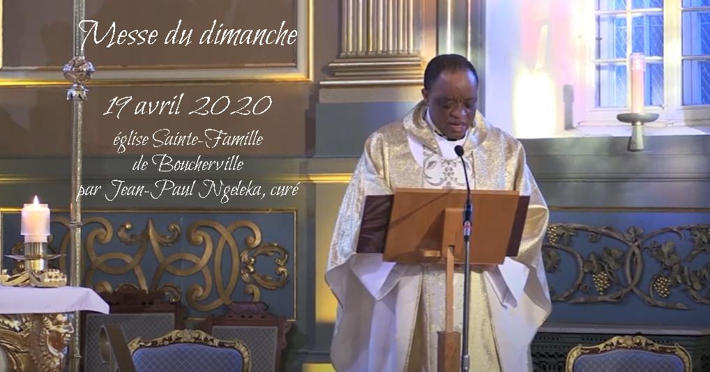 Messe en vidéo du 19 avril 2020