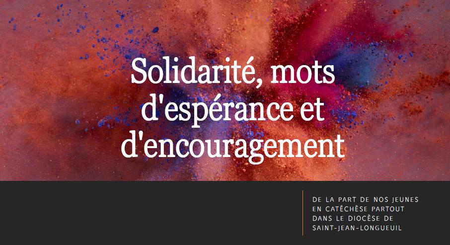 Solidarité – mots d'espérance et d'encouragement